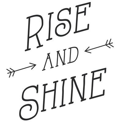 The Decal Guru Rise and Shine Wall Decal