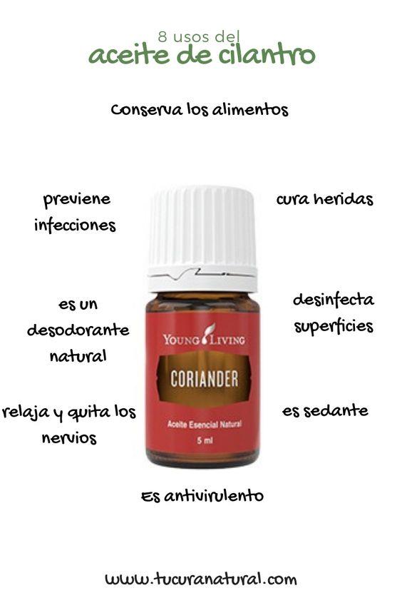 usos del aceite de cilantro