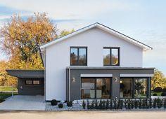 fehér ház szürkével