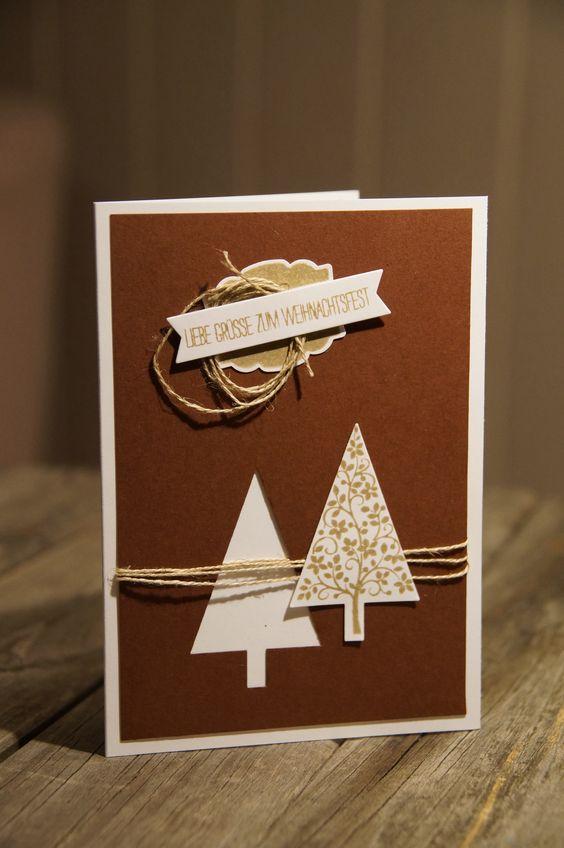 weihnachtskarte mit der tannenbaum stanze von stampin up stampin up basteln anleitung. Black Bedroom Furniture Sets. Home Design Ideas