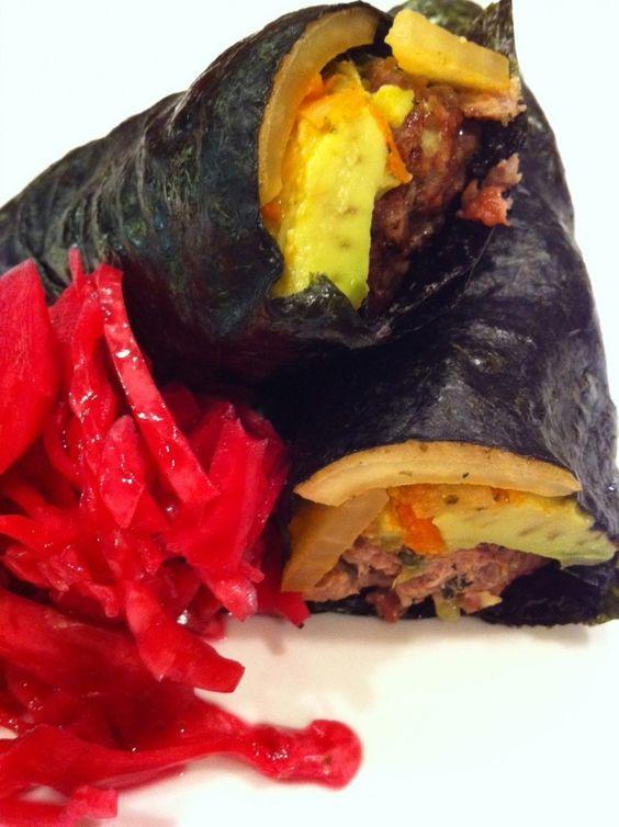 Nori-wrapped Grass-fedburgers
