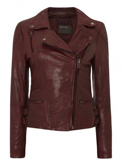 Ollon Red Leather Biker Jacket. Shop the Style: http://goo.gl/U4Bmt7. #Muubaa #AW14