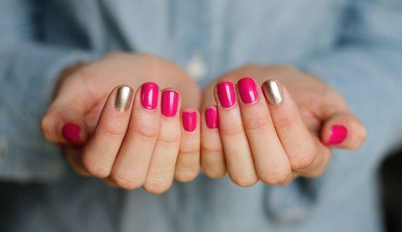 Pink e dourado