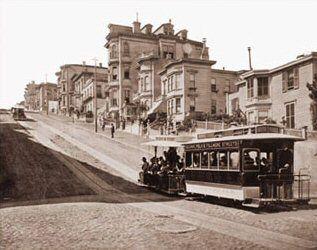Street Car on California Street 1878