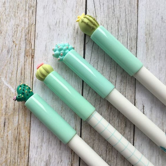 Add a touch of horticulture to your stationery collection with these eye catching cactus gel pens. They each have a fine 0.5mm writing point with black ink. ******************************************************************* Whilst youre here why not take a look round our shop - The