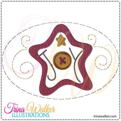 Joy Star 2 Machine Embroidery Design http://trinawalker.com/shop/index.php?main_page=product_info&cPath=78_79&products_id=97