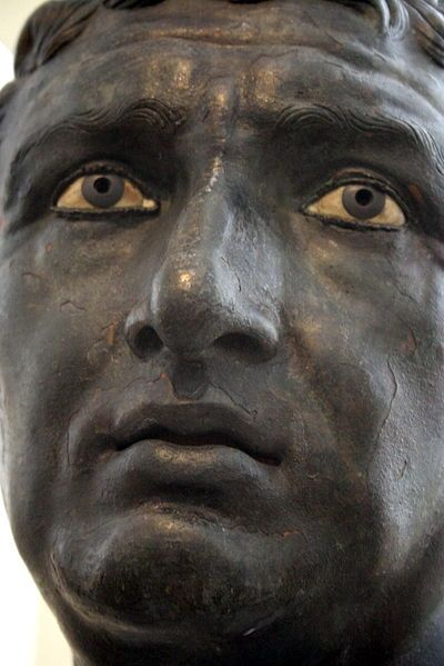 Bronze portrait (1st century BC), Archaeological Museum of Athens / Photo by…:
