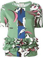 Marni - floral print T-shirt green #genteroma