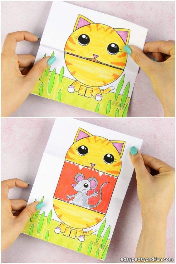 Surprise Big Mouth Cat Printable Craft for Kids