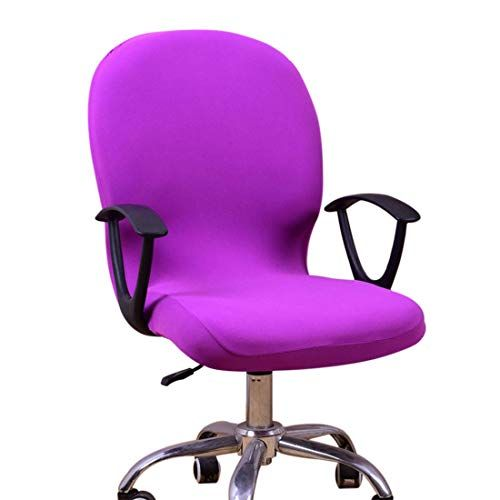 Chair Cover Stretchable Slip On Computer Office Chair Cover Protector Purple Office Chair Cover Most Comfortable Office Chair Office Chair