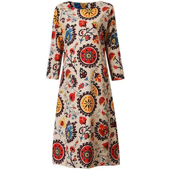 O neck long sleeve dress images