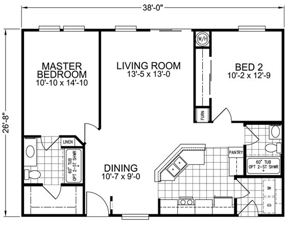 Small Modular Homes Floor Plans Print Standard Floor Plan Home - Small modular home plans