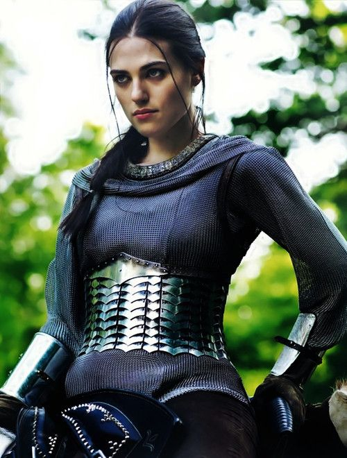 Morgana (Katie McGrath) of BBCs Merlin in armour (very beautiful armour might I add!)