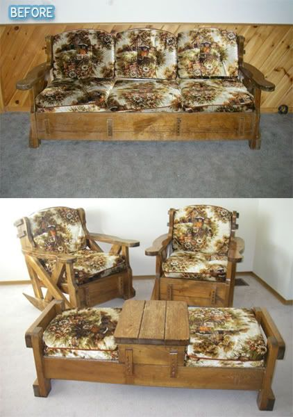 ugly before photos of patio furniture!! never would think to do this and see this furniture all the time!!!!!!