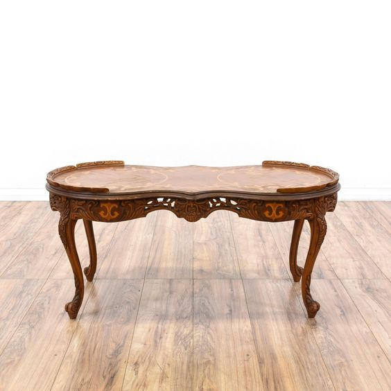 victorian ornate carved inlay coffee table. Black Bedroom Furniture Sets. Home Design Ideas