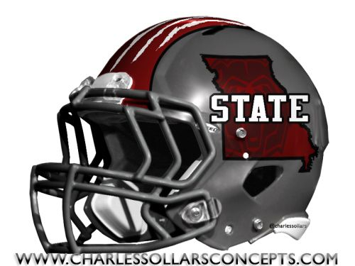 Charles Sollars Concepts @Charles Sollars @Charles Sollars http://www.charlessollarsconcepts.com/missouri-state-bears-silver-helmet-concepts/ #mostate #MSU #SMSU #Missouristate #bears