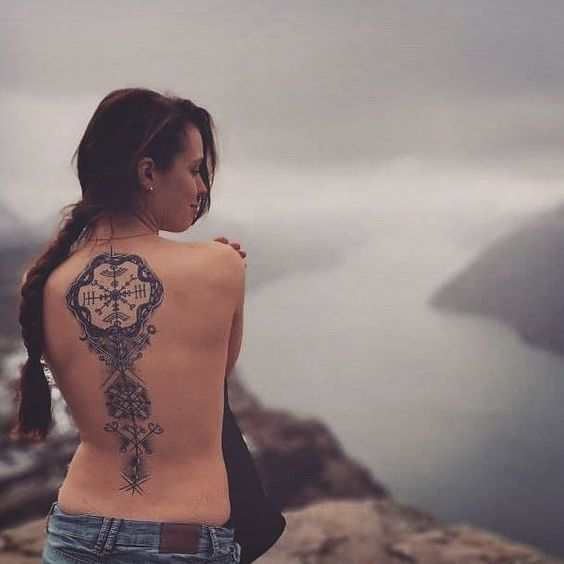 Discover the Meaning of Viking Tattoos here -  Reposted from instragram : vikingtattooart who Reposted from @habbanerotattoo . .#vikingtattooart .#vikingart #vikingtattoo #vikinglife . Beautiful healed photo of Sophia's back from her trip to Norway. 🌄 Thank you so much for sending it to me lovely 🖤 @_fia.sko_ If any of you lovely people have a nice healed picture of a tattoo I've done for you please send it over 💜