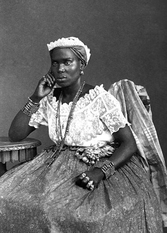 Negra da Bahia, 1885. Foto de Marc Ferrez.: