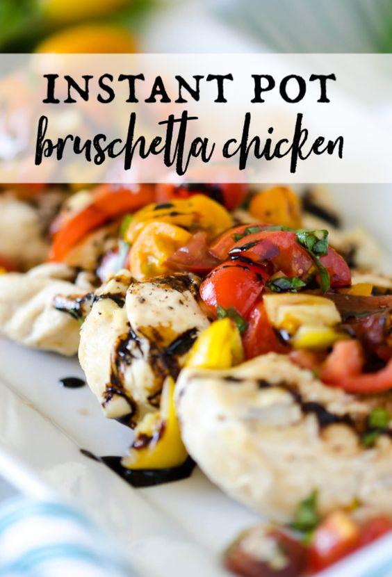 Instant Pot Chicken Bruschetta