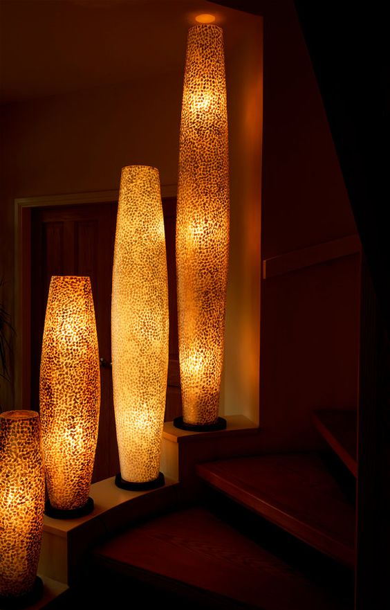 Gold floor lamp cas and floors on pinterest for Gold shell floor lamp