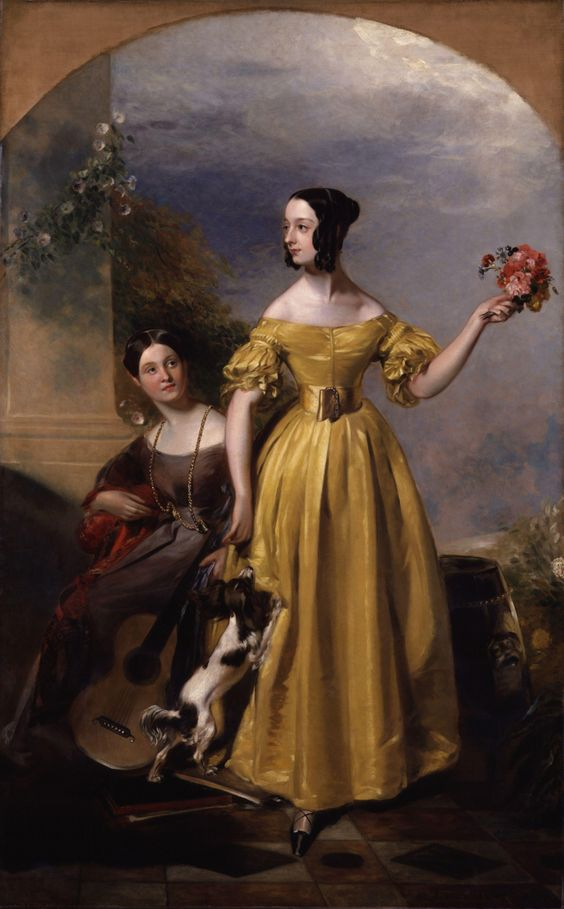 Alexina Nesbit Sandford and Catherine Hepburne Lindsay by Andrew Geddes, ca 1838, the National Portrait Gallery, London: