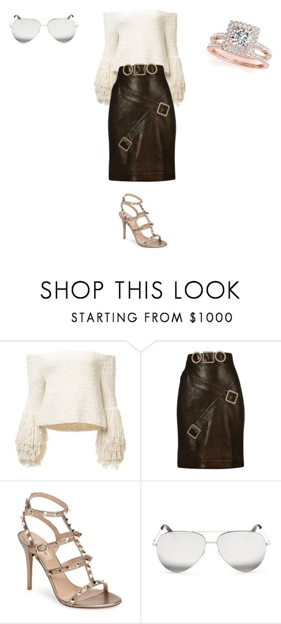 """""""Sans titre #8456"""" by ghilini-l-roquecoquille ❤ liked on Polyvore featuring Chanel, Valentino, Victoria Beckham and Allurez"""