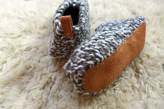 Knitting Patterns For Slippers With Leather Soles : Pinterest   The world s catalog of ideas
