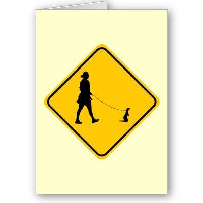 Pet Ferret Crossing Card
