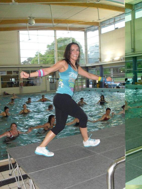 #myzumbaparty  Maria Tere Stone at New Zealands first ever Aqua Zumba Masterclass