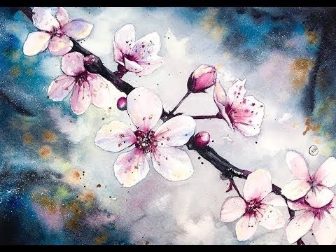 Watercolor Cherry Blossom Flowers Watercolor Painting Tutorial