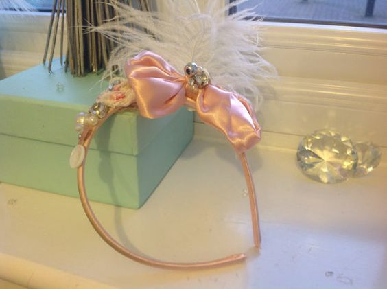 Chic pastel hair band  on Etsy, £6.77