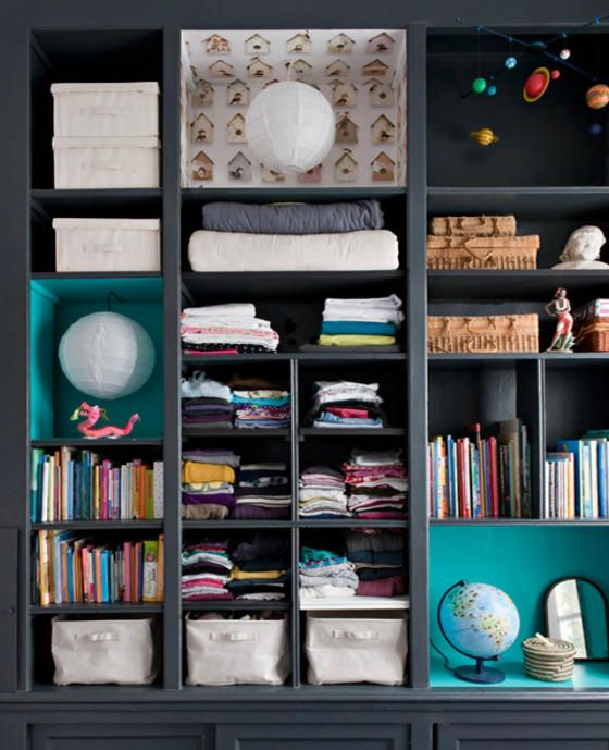 love the few pops of turquoise and pattern  | desire to inspire - desiretoinspire.net - double g