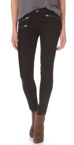 black zip jeans - Jean Yu Beauty