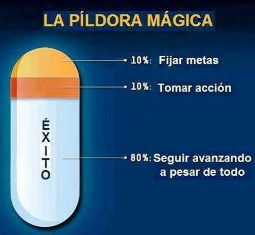 La píldora mágica...