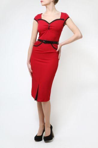 The Red Heidi Dress by Lindy Bop - Retro Dresses - Retro Clothing