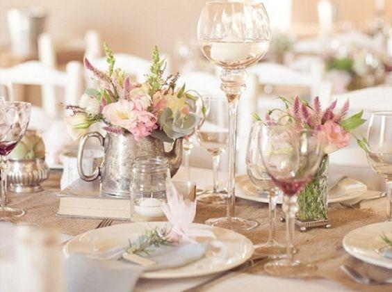 Table mariage rustique mariage pinterest mariage fleur et tables - Table de mariage chic ...