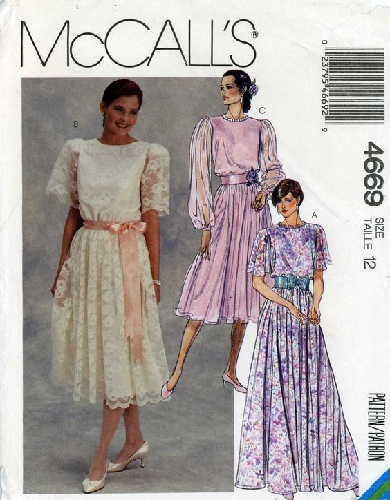 90s Sewing PATTERN McCalls 4669 misses Dress Easter Bridal Prom Bridesmaid sz 12 #McCalls #fancycasual