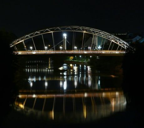 Luitpoltbrücke bei Nacht - Bamberg, Germany
