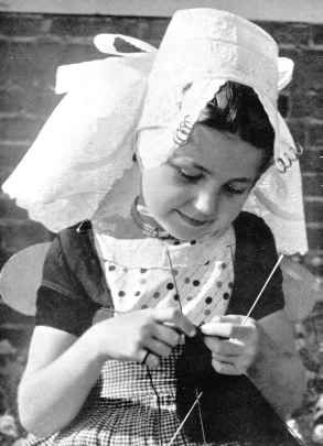 #Dutch girl in costume.