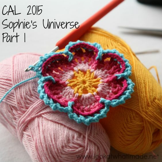 Part 1 of Sophie's Universe CAL 2015.  This crochet-along is a 20-week project with step-by-step photos, video tutorials, and translations.  #lookatwhatimade #sophiesuniversecal2015 #learntocrochet: