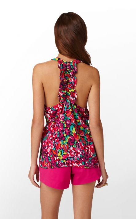 Lilly Pulitzer Devany Top in Wild Confetti--rear view ($98.00)