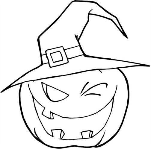Scary Pumpkin Coloring Page Coloring Page Book For Kids