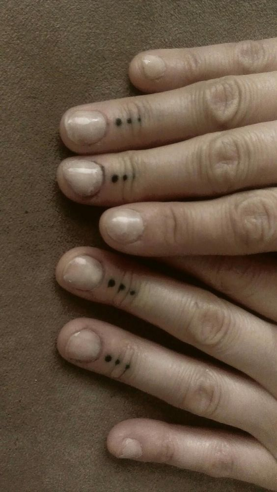 Fingers dots and finger tattoos on pinterest for Tattoo dots on fingers meaning