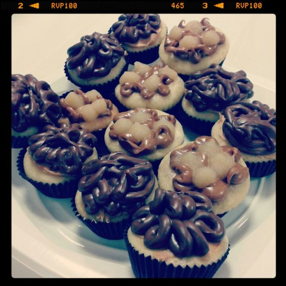 Cupcakes nutella peanut butter, cinnamon apple ♡ My little factory Bastia