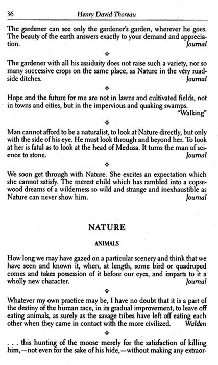 Thoreau quotes - free from Dover Publications