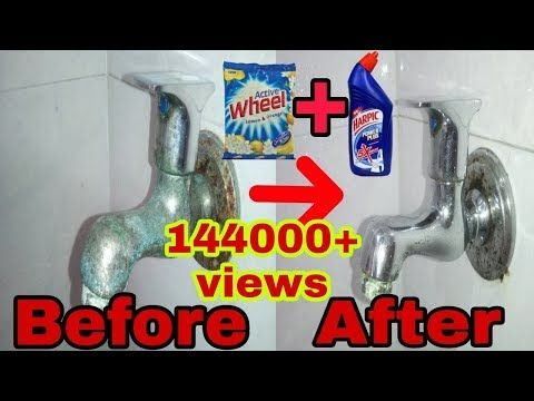 How To Clean Steel Taps With Harpic And Detergent Youtube How To Clean Rust