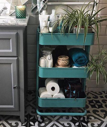 rolling bathroom storage