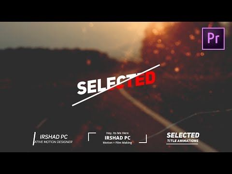 Free After Effects Template Minimal Titles Youtube Premiere Pro Tutorials Premiere Pro Graphic Design Templates