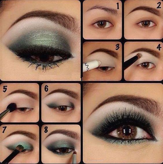 Tutoriales de maquillaje en 5 colores diferentes