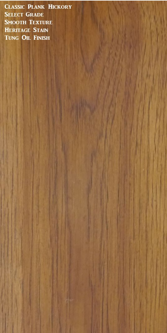 Classic Hickory Wide Plank Flooring Tung Oil Finish